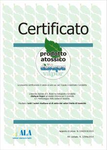 certificato di atossicità disaqua